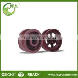 Heavy duty industrial v groove cast iron castor wheel U groove guide wheel , track roller bearing
