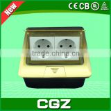 CGZ Brand 2015 new hot sale battery powered plug floor socket