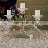 Wedding decoration crystal flower stand for party event