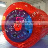 2016 Hot Selling Colorful PVC / TPU Inflatable Water Roller for Water Games, Water Walking Ball/Tube