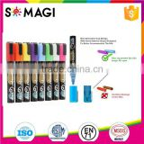 fantastic Bullet And Chisel Tip and Dry-Erase & Wet-Erase chalk marker with rich fluorescent Colors