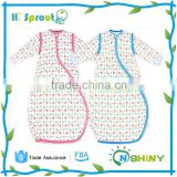 Onshiny beautiful printing Kids sleeping bag with sleeves