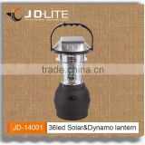Hand crank 36 led solar lantern rechargeable camping light camping light with solar panel for outdoor activities