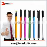 Double tips water color pen and stylus pen colored matt finish highlighter pen