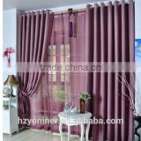 2015 hot sale linen like curtain fabric ; made up curatin in hotel or home