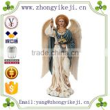 2015 chinese factory custom made handmade carved hot new product angel sculptures polyresin