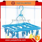 24 pegs rectangle laundry hang Folding Hanger Underwear Clothes Socks Laundry Dryer Dry Clip Peg Dorm Hook