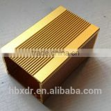 Anodized CNC machined custom extruded aluminum heatsink enclosure