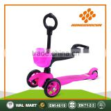 hot sale three light wheels 3 in 1 baby scooter