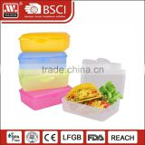 China supplier plastic food server sandwich cake box bread container for storage and carrying