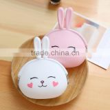 Custom cheap cute animal silicone rubber squeeze coin purse