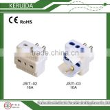 Italian ac dc electrical multi 3 round pin 16a industrial male and female plug socket adaptor socket
