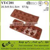 silicone chocolate mould with star shape