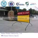 strong and durable with rust prevention aluminium display stand with sticker