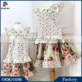 Boho Style Children Boutique Clothing Rose Skirt & Flutter Sleeve Top Sets Girls Outfit Cotton Summer Kids Clothes