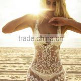 Sexy Women Beach Swimwear Bikini Cover Up Lace Crochet Summer Dress