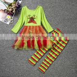 China wholesale children's boutique girl clothing kids clothes christmas children sets