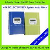 Stock Brandnew 48V 40A MPPT solar charge controller , PV regulator 48V 40A ,Solar tracer 40A 48V with LAN RS232 DC loads ctrl