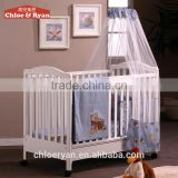 Comfortable MDF wood bed baby playpen travel cot