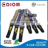 Custom printing Guitar strap band belt with genuine cowhide leather ends and high grade soft polyester strap