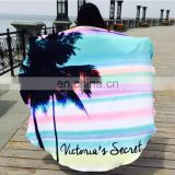 Wholesale 100% cotton diameter 160cm round beach mat