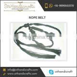 Braided Handmade Crochet Rope Belt for Bulk Export