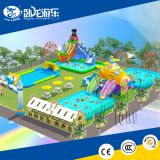 Wholesale Commercial High quality inflatable water park games / water slide with pool