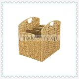 desk storage basket with dividers with handles