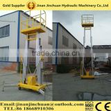 6meter movable aluminum alloy boom lift,one man scaling up and down type lift for low maintenance