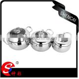 stainless steel Belly soup pot with glass lid/ Casserole set/ cooking stock pots