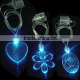 Led flashlight necklace for promotion and advertising