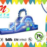 Inflatable water slide kids backyard slide with climbing wall and pool