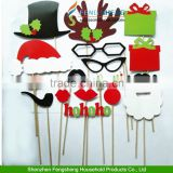 17pcs Christmas photo booth props, cheap inflatable christmas props                                                                         Quality Choice