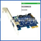 PCIe x1 to USB 3.1 converter card 2ports 10G USB 3.1 Type C USB-C Type A Port Add on Expansion Card Adapter for PC Computer