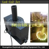 led co2 jet machine for disco dj stage concert show AC110/220V RGB 3in1 and colorful color mixing led DMX Co2 jet
