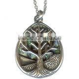"Tree of Life Pendant Necklace with Chain Women's Jewelry 18"" Silver Shimmering Tree of Life Pendant"
