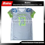 High quality printed american football jersey custom/sublimated american football jersey/custom design american football uniform