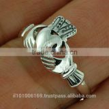 Plain Celtic Claddagh Sterling Silver Ring, rp329