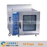 Gas Combi Oven Professional Deck Oven Gas Steam 10 Trays Gas Steam Oven (SY-CV10C SUNRRY)