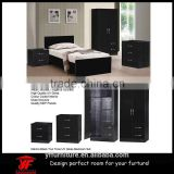 Black high quality UV Gloss MDF wardrobe cabinet bedroom set                                                                                                         Supplier's Choice