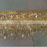 small bead hip scarf with coins (XF-017)