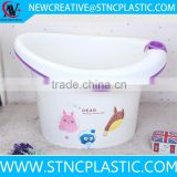 baby care cartoon plastic baby bath tub with stand
