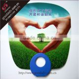 Advertising fan O ring shape plastic pp hand fan with low price