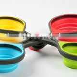 4-Piece collapsible silicone measure cups,silicone folding cup