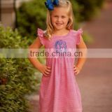 Popular sleeveless ruffle dress flower girl dress kids girl casual summer dress 2015