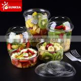 Vegetable fruit salad PET plastic cup with lid                                                                         Quality Choice