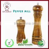 "Wood Pepper Mill Set- 5"" and 8""High"
