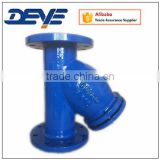 Light Weight DIN3202 F6 OR BS standard Gray Cast Iron Y-strainer with SS SCreen Oil Gas Water