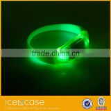 LS-01512 2015 fashion bracelet flashinh led light cheap custom silicone bracelet promotional gift items led bracelet
