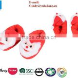 Children Toddler Kids Winter Warm Father Christmas Santa Slippers Shoes Red